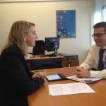 Cláudia Monteiro de Aguiar reúne com Comissário Carlos Moedas