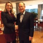 Eurodeputada recebe embaixadores da Turquia e de Taiwan