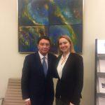 Cláudia Monteiro de Aguiar reúne com Secretário-Geral da OMT
