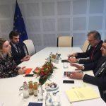 Cláudia Monteiro de Aguiar reúne com o novo Secretário-Geral da OMT em Bruxelas